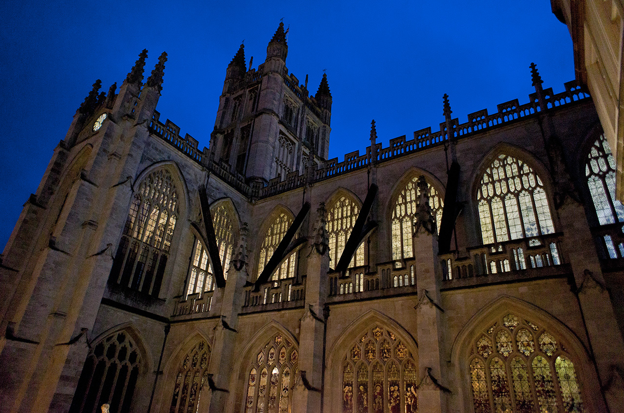 Bath Abbey Night