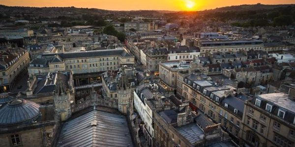 Iconic Buildings & Views of Bath Series – Rooftop View From Bath Abbey