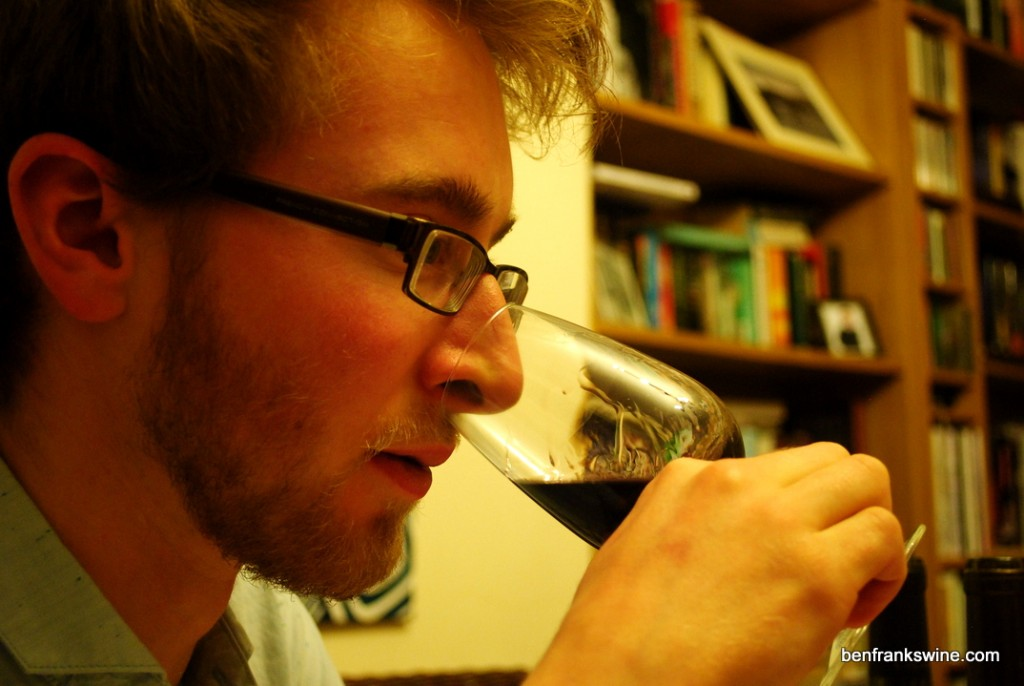 Tasting red wine - Ben Franks Wine