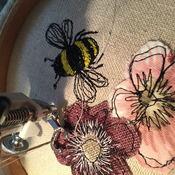 free-hand machine embroidery